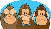 say, hear and speak no evil