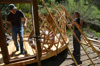 Yurt pitching 2